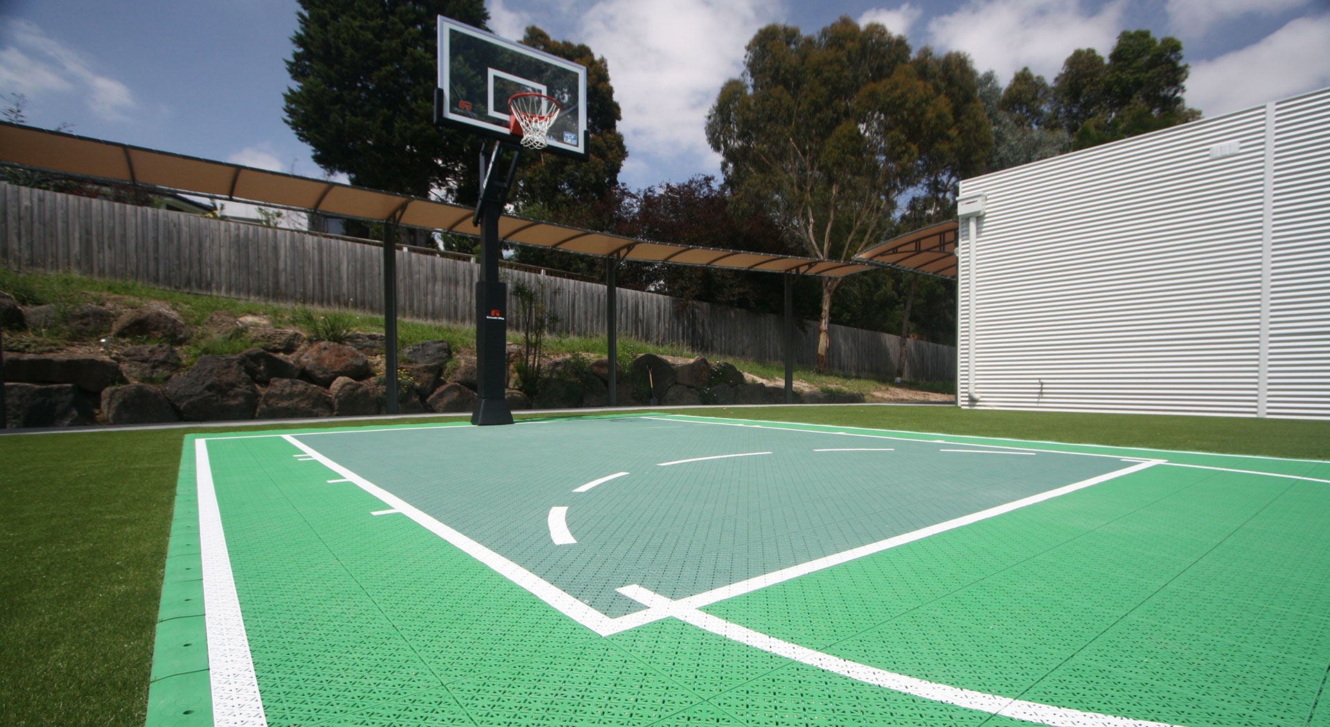 basketball court landscaping